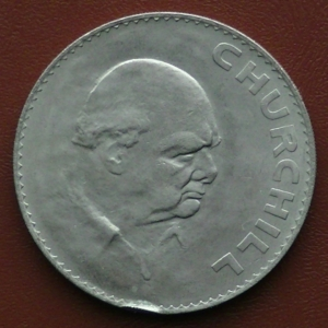 Image of the 1965 Winston Churchill Crown Reverse