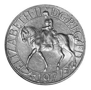 Image of the 1977 Silver Jubilee Crown