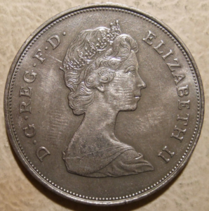 Obverse image of the 1981 Charles and Diana Crown