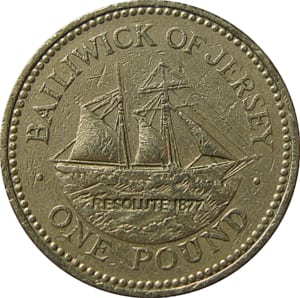 Bailiwick of jersey 1 pound coin