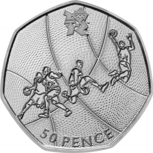 The Basketball Olympic 50p Coin