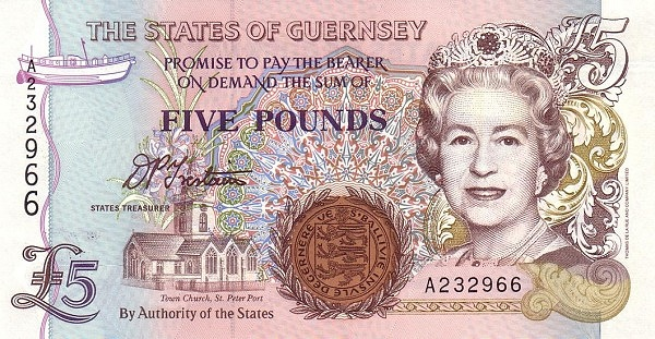 an image of the Guernsey £5 note