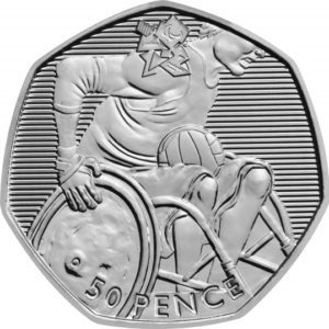 The Wheelchair Rugby Olympic 50p Coin