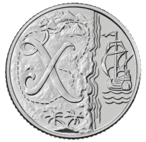 The X-marks-the-spot 10p Coin
