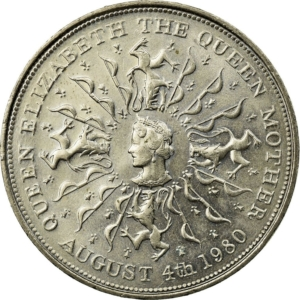 Reverse of the 1980 Queen Mother crown