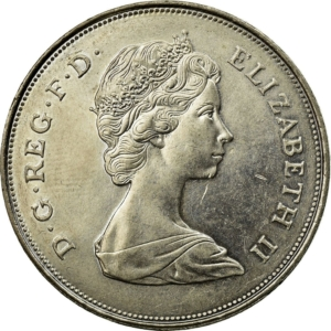 Obverse of 1980 Queen Mother crown