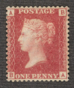 Peeny red 77 stamp
