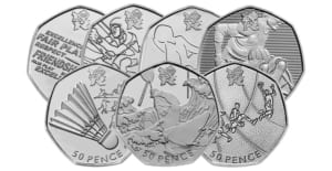 7 of the olympic 50p coins