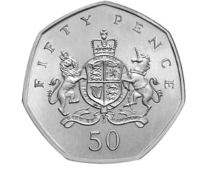 the Christopher Ironside 50p Coin Design