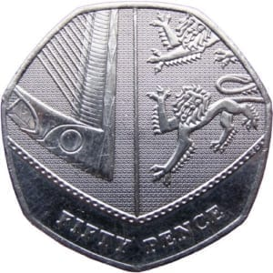 Royal Coat of Arms 50p Coin