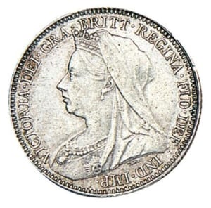 Old head Victoria Sixpence
