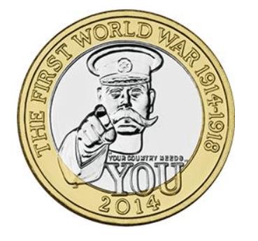 FWW Outbreak £2 Coin Design
